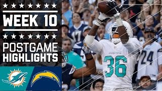 Dolphins vs. Chargers | NFL Week 10 Game Highlights