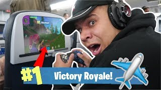 I Won a Game of FORTNITE on an AIRPLANE!! (30,000+ FT IN THE AIR) *INSANE*