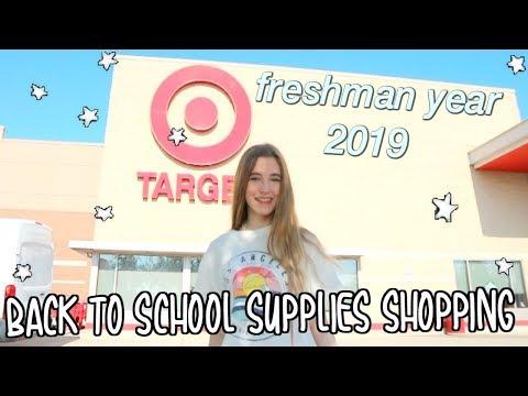 Back to School Supplies Shopping 2019// freshman year