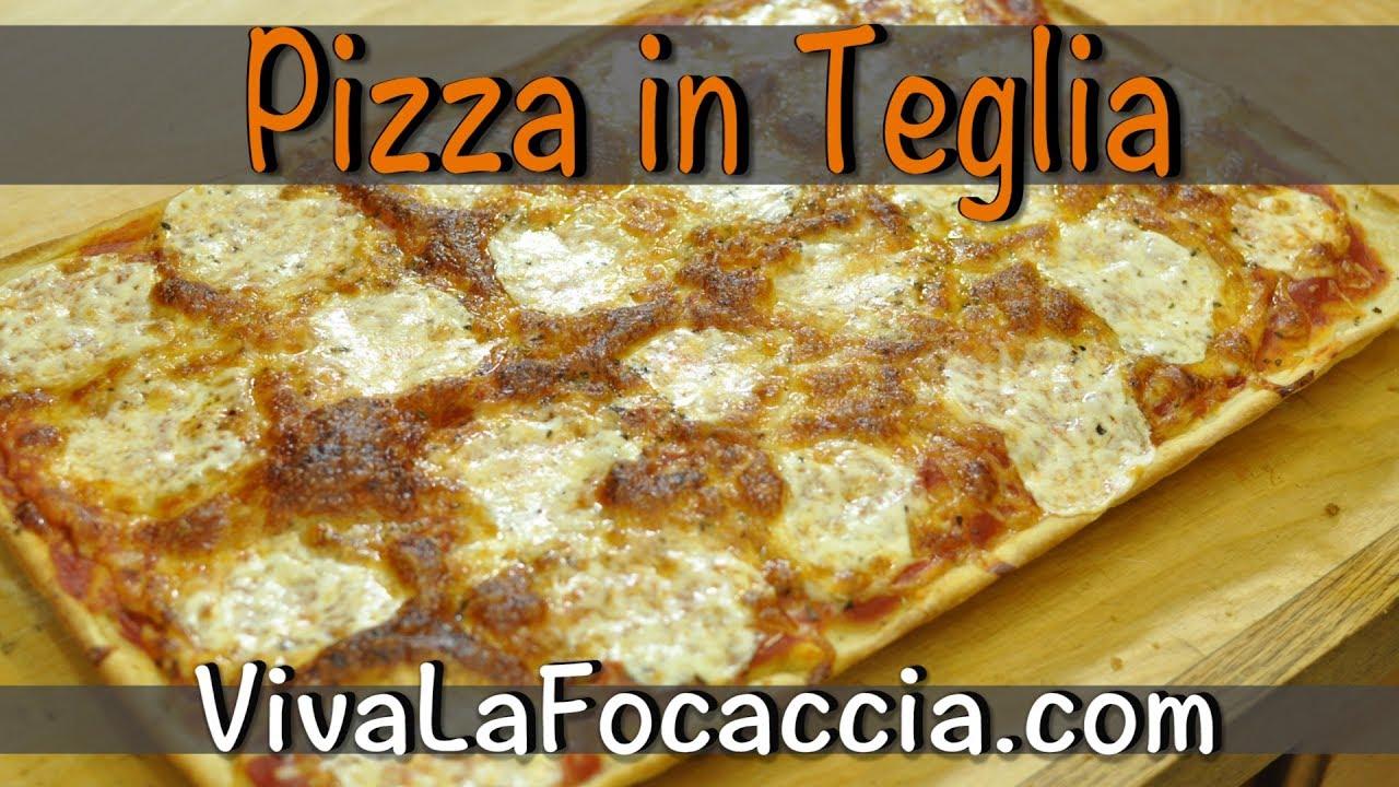 Ricetta Pizza Napoletana Viva La Focaccia.Ricetta Per Fare La Pizza In Teglia In Poco Piu Di Un Ora Youtube