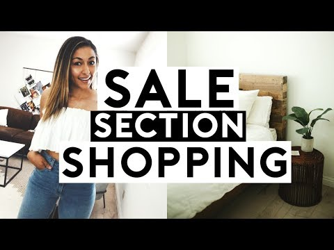 SALE SECTION ONLY SHOPPING! Home Decor + Cheap Summer Outfits 2018
