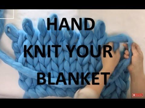 HAND KNIT MERINO WOOL BLANKET IN 30 MINUTES - 10% OFF