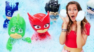 Los PJ Masks en la Guardería Infantil. Serie de vídeos de juguetes para niños.