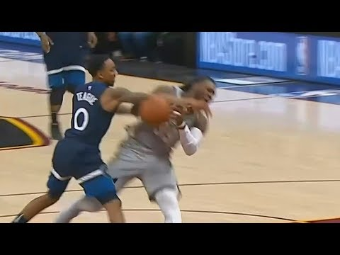 Jae Crowder Almost Fights Jeff Teague for Knocking Him Down! Cavaliers vs Timberwolves