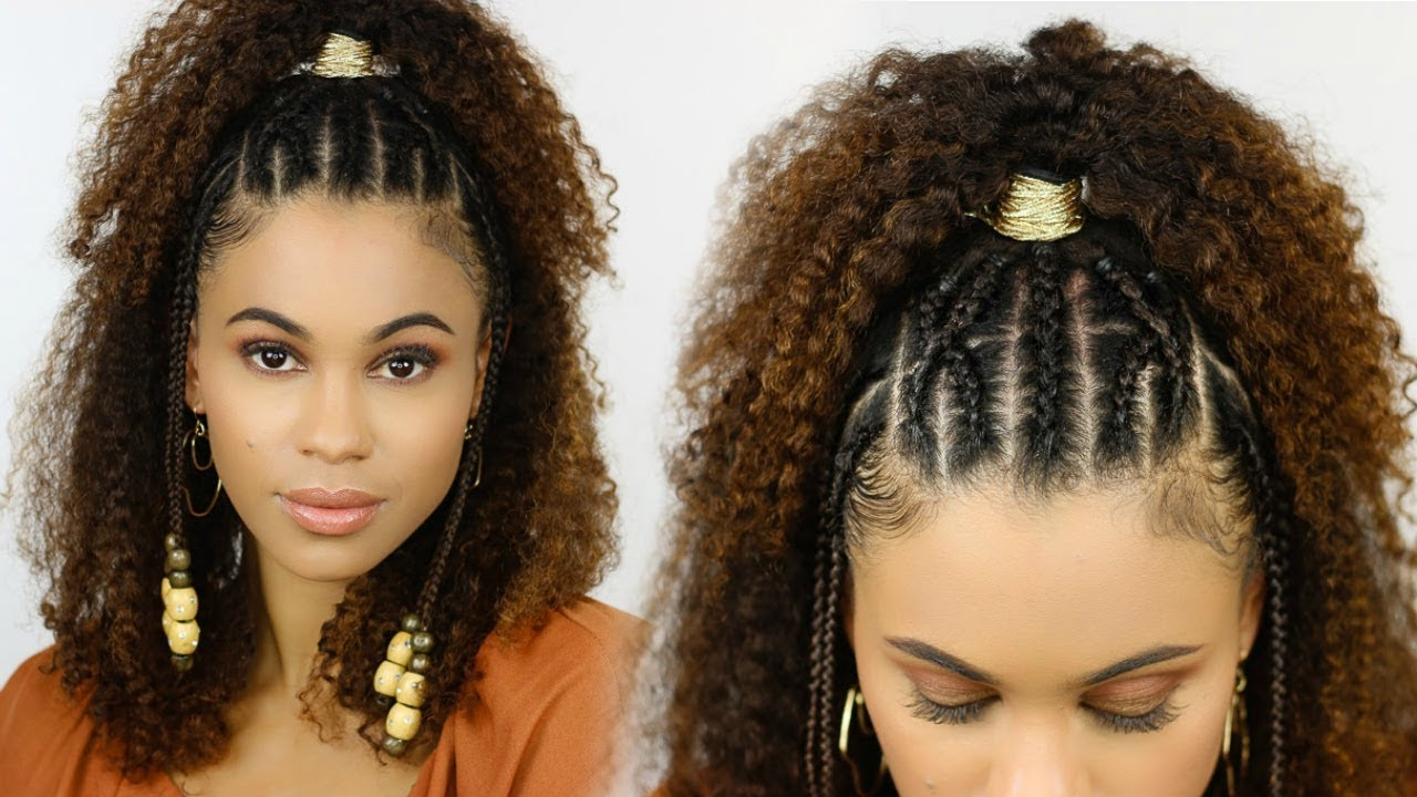 Easy Braided Summer Style For Natural Hair