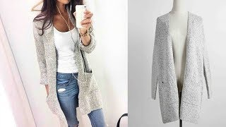 Women Knitted Sweater Casual Cardigan Long Sleeve Jacket Coat Outwear Review