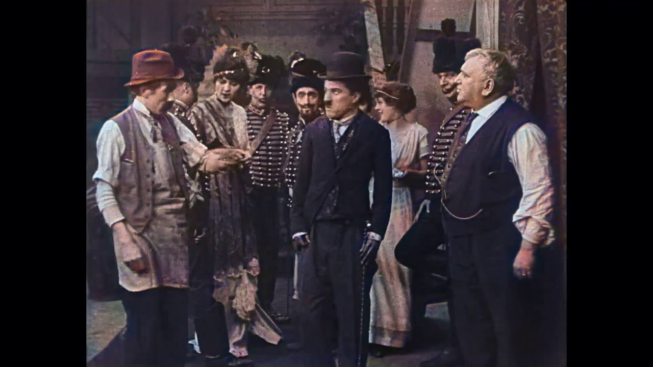 His New Job (1915) - 1st CHARLIE CHAPLIN Essanay Film - Gloria Swanson - Color (Laurel & Hardy)