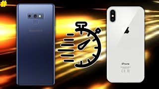 Samsung Galaxy Note 9 (Exynos) vs Apple iPhone X Speed Test!