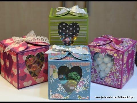 No.353 - Lots to Love Cube Box - UK Stampin' Up!