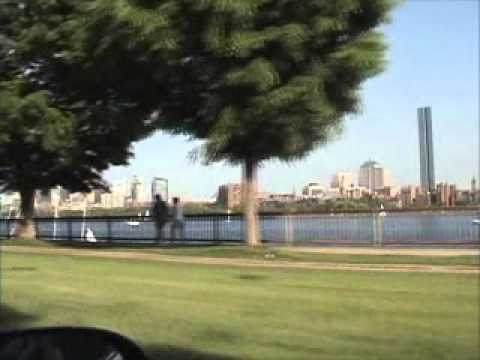 Beautiful Summer Drive by Charles River in Boston
