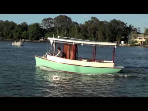The launching of the Sienna Solar Boat