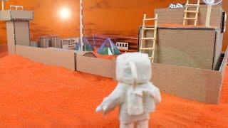 кАК ВЫЖИТЬ НА МАРСЕ НУБУ из МАЙНКРАФТ ! Как сделать военную базу на марсианской планете из картона ?