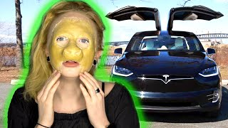 Turning Myself Into A Cow In A Tesla