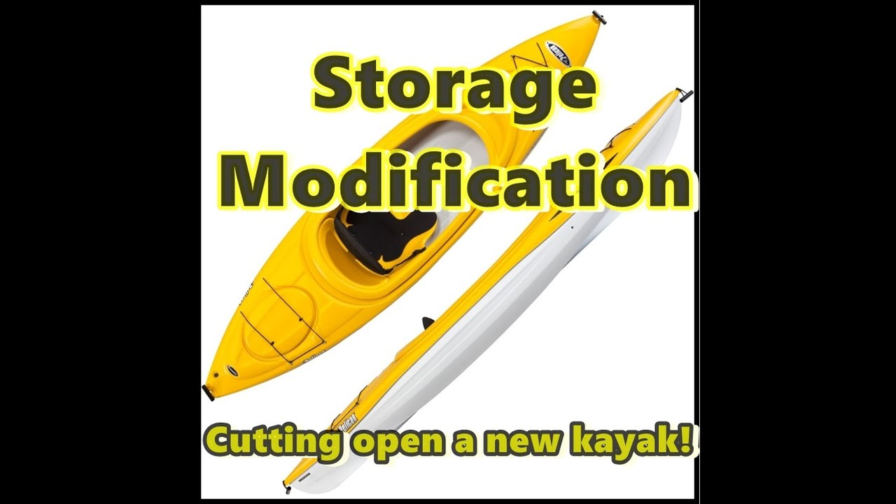 Modifying Pelican Kayak Opening The Back End For Storage Space