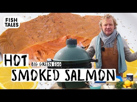 How To Hot Smoke SALMON On A Big Green Egg BBQ | Bart Van Olphen