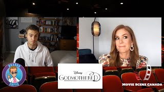 "Isla Fisher & Jane Curtin talk ""Happily Ever After"" today - Disney + Godmothered Interview"
