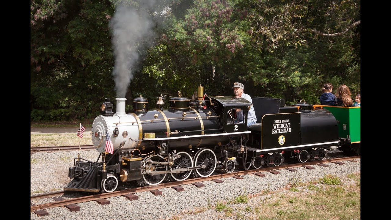 "The Beautiful Billy Jones Wildcat Railroad at Vasona Park - 18"" gauge Live Steam in Los Gatos -"