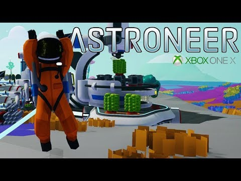 Mining the Caves for Metal - Astroneer Gameplay - Xbox One X