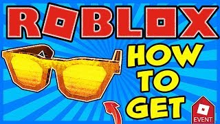 [EVENT] HOW TO GET THE DIY GOLDEN BLOXY SHADES IN ROBLOX   2019 BLOXYS EVENT