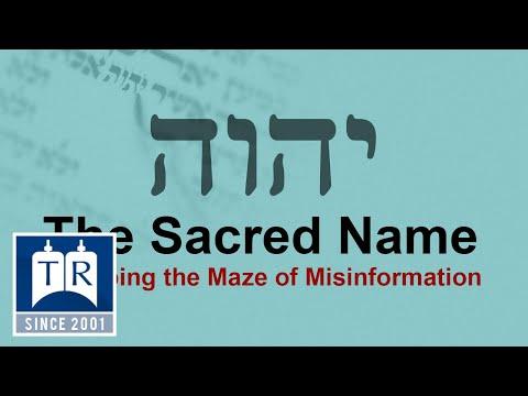 The Sacred Name - TorahResource