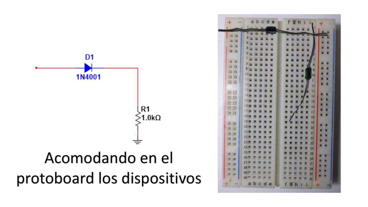 Armado De Un Circuito Esquem U00e1tico A Protoboard