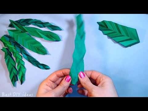 easy-origami-leaf-with-extra-texture.-easy-crepe-paper-leaves-for-bouquet-decoration.