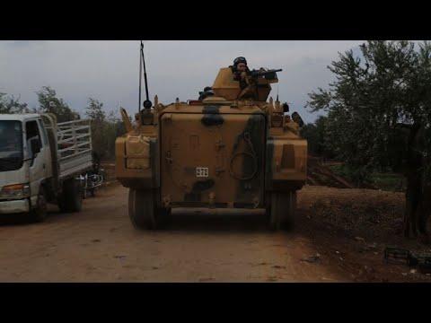 قوات تركية برية تدخل الاراضي السورية