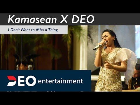 Kamasean - I Don't wanna miss a thing Feat DEO at Bidakara   Cover Deo Wedding Entertainment