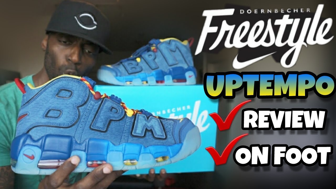 timeless design 53ddb 3106f NIKE DOERNBECHER UPTEMPO REVIEW   ON FOOT VID 🔥🔥🔥