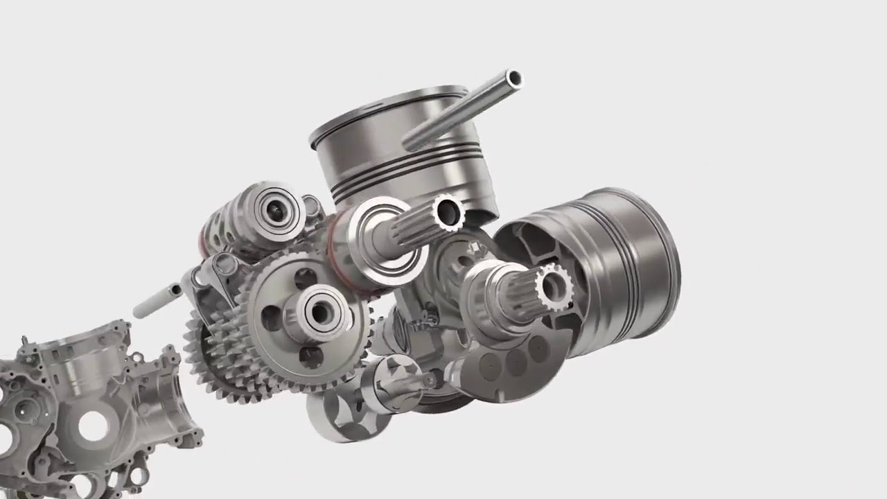 Ducati 1299 Superleggera Panigale V 2 Engine Assembly Animation