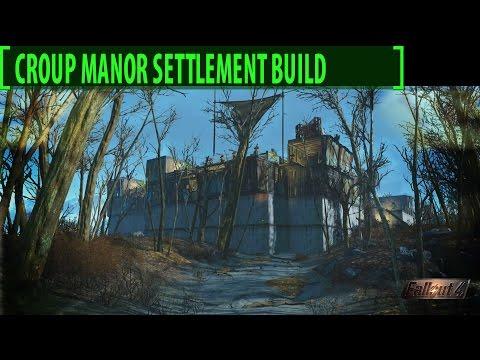 Fallout 4 Croup Manor 2.0 Settlement Build Tour