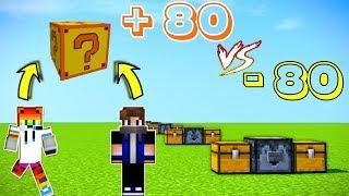 Luck vs Unlucky Şans savaşları - Minecraft Fortunia şans blokları