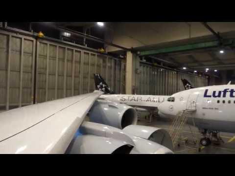 #83 Visiting Lufthansa Technik- Inside Airbus a330 300- Lufthansa- Frankfurt Airport 20161219