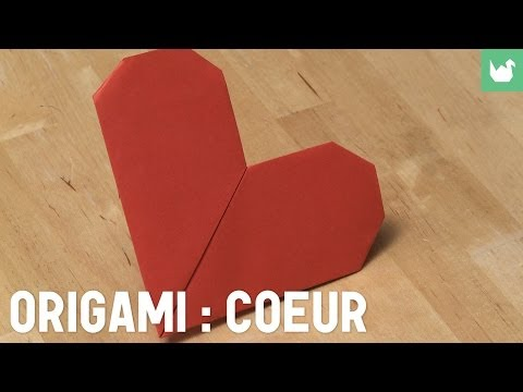 Comment faire origami coeur en papier from youtube - Faire un coeur en papier ...