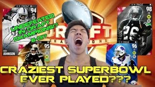CRAZIEST SUPER BOWL EVER PLAYED!? Madden 16 Draft Champions