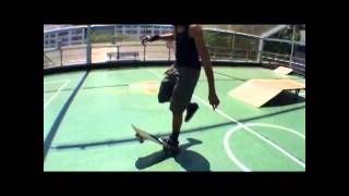 Freestyle skateboarding at friends seminary...