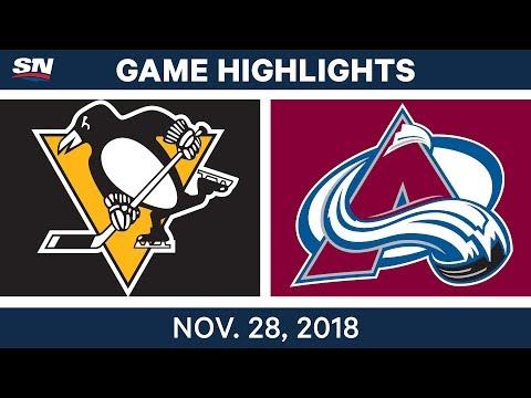 NHL Highlights | Penguins vs. Avalanche - Nov 28, 2018