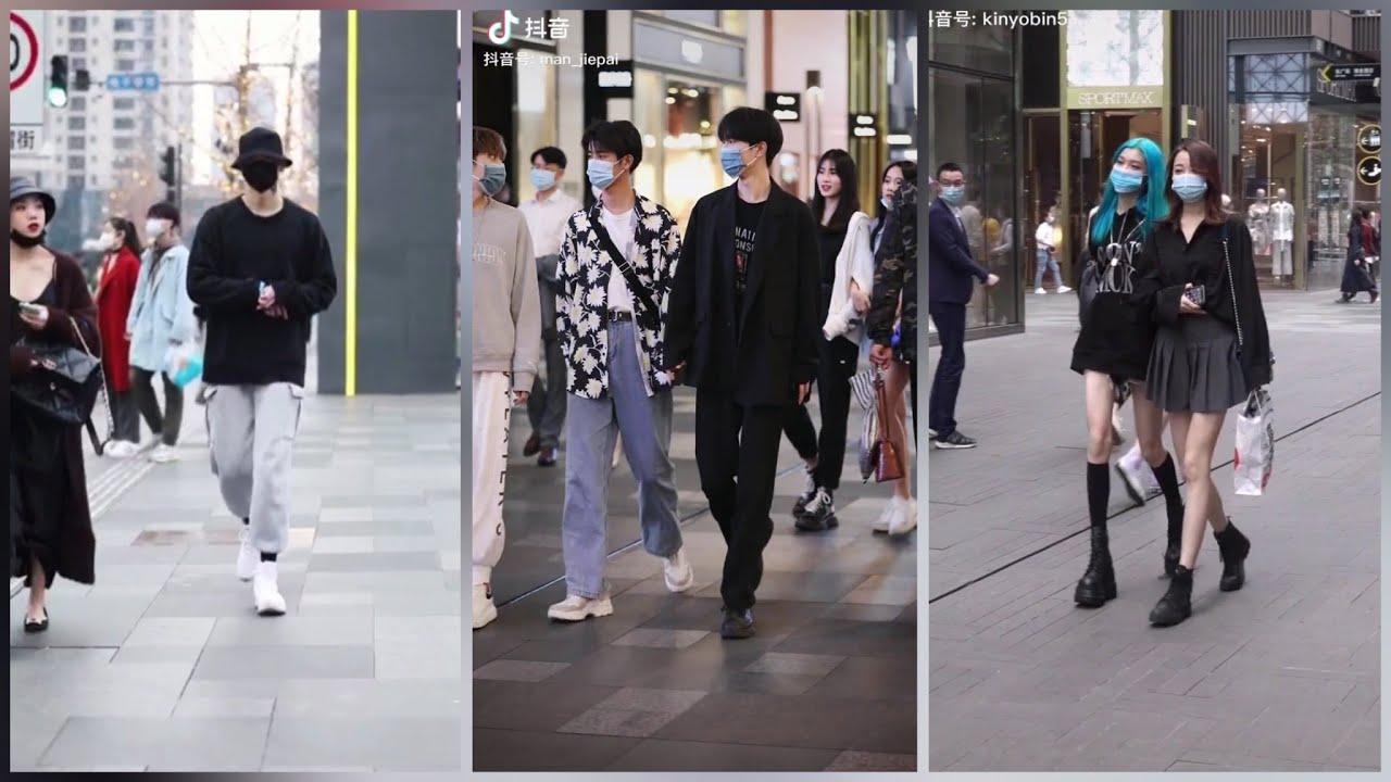 Thời trang đường phố cực chất của giới trẻ Trung Quốc [Tik Tok Trung Quốc/ DouYin]   Tổng quát những nội dung liên quan đến thoi trang nam tre chính xác