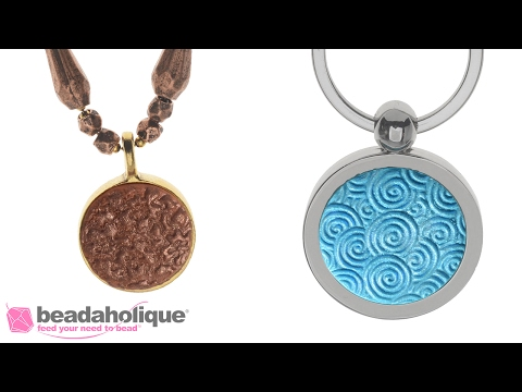 How to Make a Textured Crystal Clay Pendant Using the JudiKins Clay Squisher