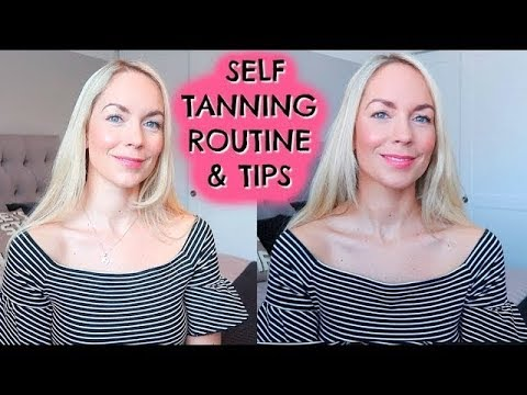 SELF TANNING ROUTINE & ST TROPEZ GRADUAL TAN REVIEW WITH CHANNEL MUM AD