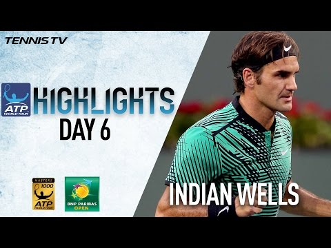 Highlights: Federer, Djokovic, Nadal Reach Indian Wells 4R 2017