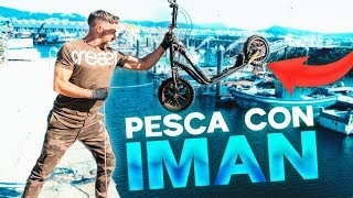 PESCA CON IMAN (Encontramos UN PATINETE 🤫) Pescando con SUPER IMÁN!!!