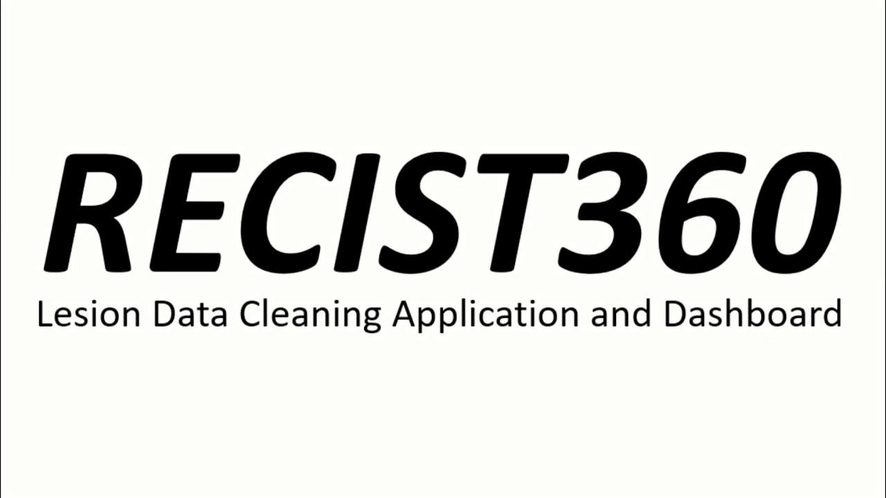 ::RECIST360:: Patient lesion timeline and data cleaning presentation