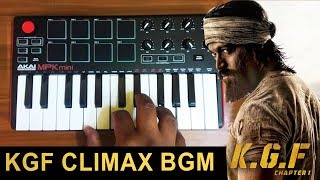 KGF Climax Fight Mass Bgm | Cover By Raj Bharath | #Yash #Ravi Basur
