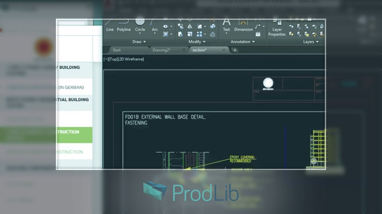 ProdLib | Using ProdLib with AutoCAD LT