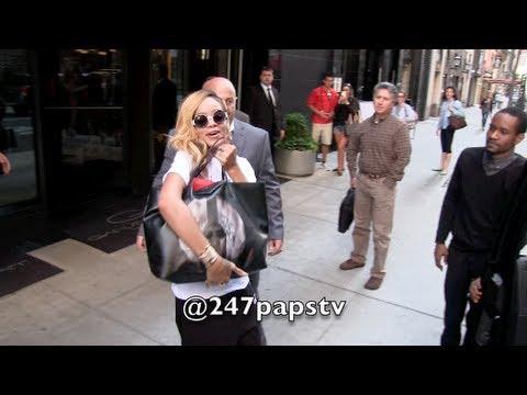 Rihanna All Smiles Leaving NEW YORK CITY Today (05-17-13)