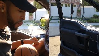 Anthony Davis Does the Drive-By Dunk Challenge