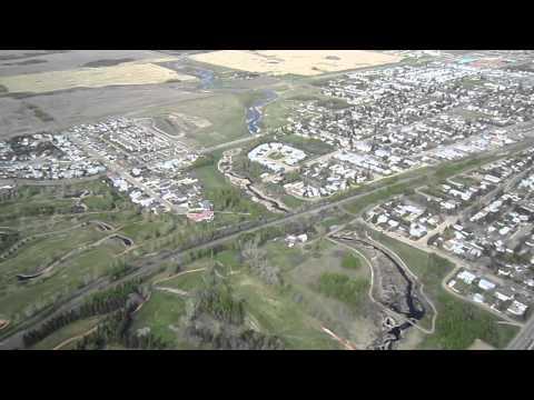 Flying over Camrose Alberta