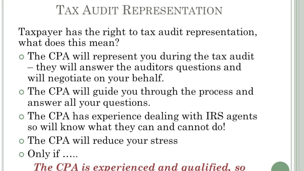 guide to an irs audit  part 1