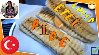 Tost Makinesinde Etli Pide  Tarifi Nasıl yapılır Sibelin mutfağı ile yemek tarifleri